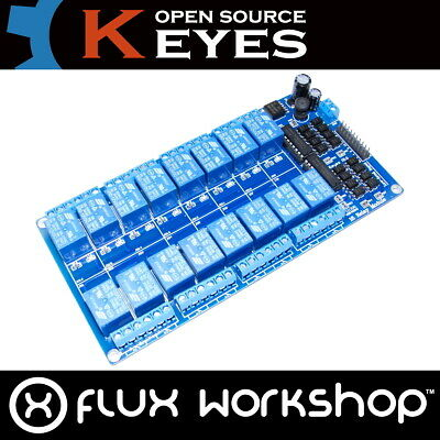 12V 16 Channel Relais module250v 125V AC 30V 28V DC Echt Keyes Flux Workshop
