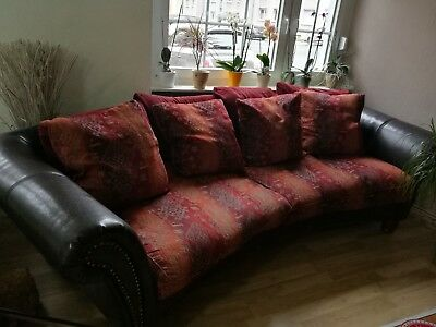 Xxl Big Sofa Und Big Sessel Kolonialstil Rot Braun Orange Eur 99