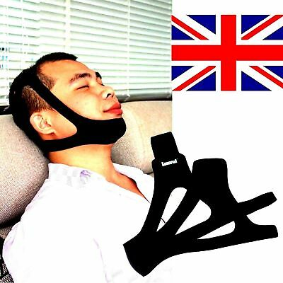 NEW Anti Snore Stop Snoring Sleep Apnea Strap Belt Jaw Solution Chin Support UK