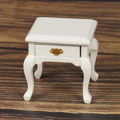Dollhouse Miniature 1/12 Scale European Style Bedside Table Cabinet Drawer New