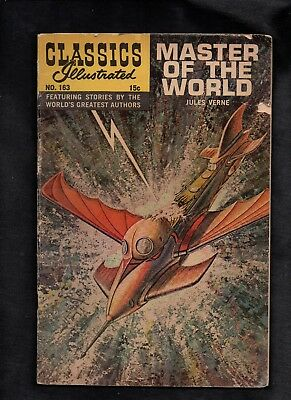 Classics Illustrated #163 Fair  Hrn167 (Master Of The World) Jules Verne