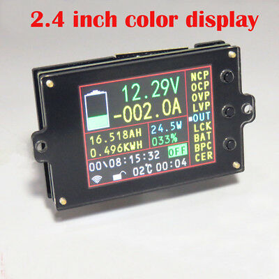 wireless VOLT AMP temperaturecoulombcapacitypower battery Monitor 120V 200A