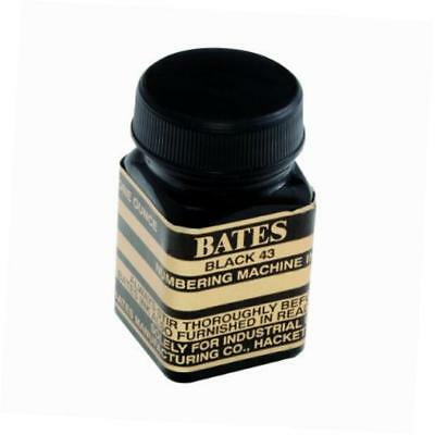bates numbering machine refill ink, 1 ounce bottle with cap brush, black