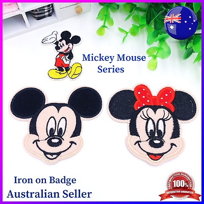 DIY Mickey and One Piece Premium Embroidered Patch Applique Badge Iron on Sew