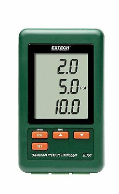 Extech SD750 3-Channel Pressure Datalogger Records data to SD card RRP £375