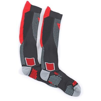 Motorcycle Socks DAINESE D-CORE HIGH SOCK black red - size L
