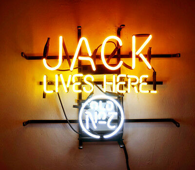 JACK DANIELS LIVES Here Whiskey Neon Sign 17\