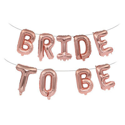 "16"" Rose Gold Bride to Be Foil Balloon Banner Engaged Hen Party Wedding Decor"