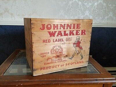 Johnnie Walker vintage wooden whiskey Crate
