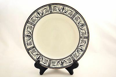 Vintage 1960s Wedgwood Black Grecian Silhouette Gold Trimmed Salad Plate Greek