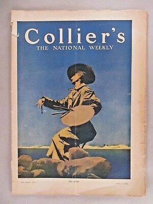 """Collier's Magazine - May 1, 1909 ~~ Maxfield Parrish """"The Artist"""" cover art"""