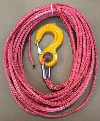 6mm X 13m Armortek Red Synthetic Rope 5 ton SWL Winch Hoist Cable