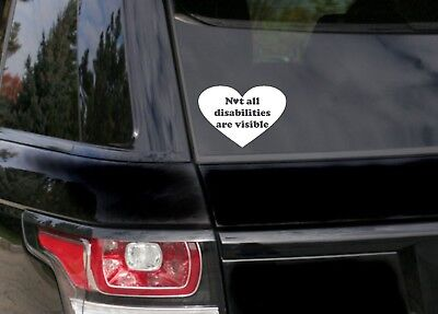 Not All Disabilities Are Visible car bumper sticker/vinyl/decal