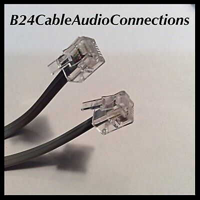 10FT 3M RJ11 6P4C Telephone Phone ADSL Modem Line Cord Cable 4 Pin Durable