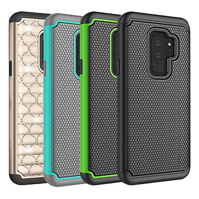 Fits Samsung Galaxy S9 Plus Case Shockproof Rugged Hybrid Impact Rubber Cover