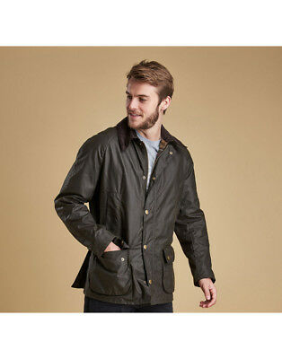 NEW Barbour Ashby Mens Wax Jacket in Olive - Size L