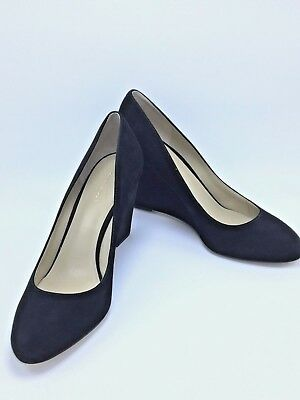 defda66fb88  138 ANN TAYLOR Black Molly Suede Wedges Pumps Sz 10M New 3.5   Heel ...