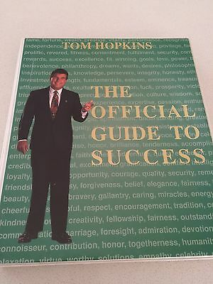 "TOM HOPKINS Audio Cassette Set ""Official Guide to Success"" 6 tape set my life"