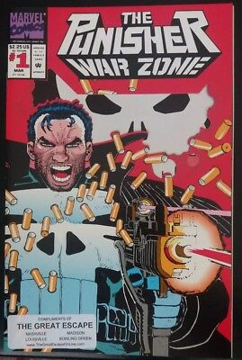 THE PUNISHER WAR ZONE Comic Book March 1992 #1 MINT HTF Free Shipping