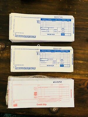 Credit Card 3-Part Carbonless Long Sales Slips & Credit Slips Manual Imprinter