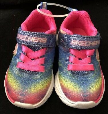 8a4c0ea0f097 NWT SKECHERS Toddler Girls Pink Multi Color Sneakers Athletic Shoes Size 5