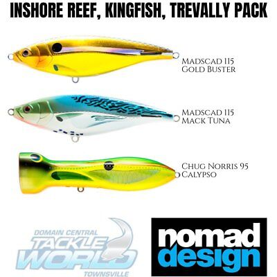 Nomad Design Lure Value Pack - Inshore Reef, Kingfish, Trevally Pack BRAND NEW
