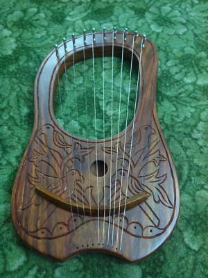 Lyre Harp 10 Strings Rosewood with Free bag and Tuning Key + Free String Set