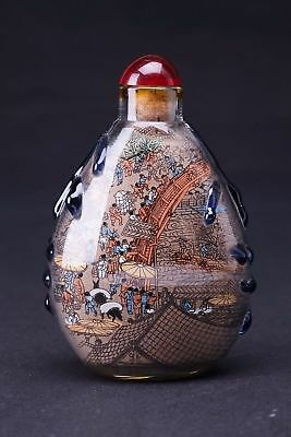 Very Fine Rare Chinese Inside Hand Painting Glass Snuff Bottle
