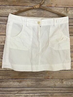 d45bb1ee1 J. Crew Women's Skirt Cotton Weathered Chino Classic Twill White Mini Size 8