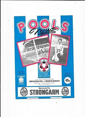 Hartlepool United v Frickley Athletic FA Cup 2nd Round 7/12/1985
