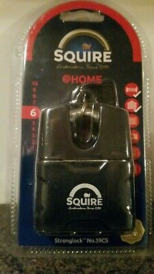 SQUIRE STRONG LOCK 39CS CLOSED SHACKLE PADLOCK  51mm High security