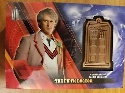 2016 Topps Doctor Who Timeless The Fifth Doctor Tardis Medallion 129/150