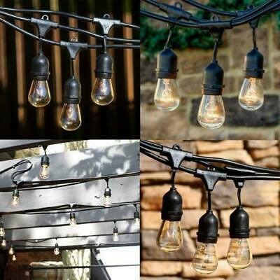 48FT 28 LED Waterproof Commercial Grade Patio Globe String Lights Bulbs Outdoor