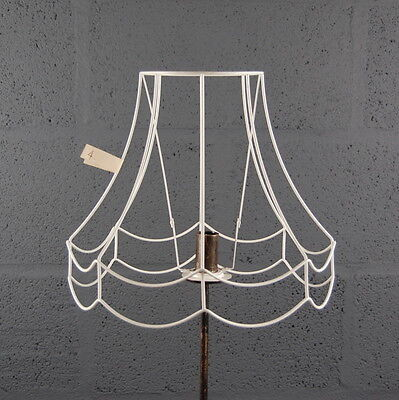 Vintage style bell shape wire lampshade frame very large 20 x 22 12 double scollop wire lampshade lamp shade frame greentooth Choice Image