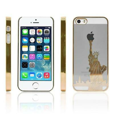 iProtect Protective Case Cover Apple iPhone 6 Plus 6s Plus Statue Liberty Gold