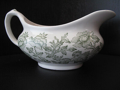 INDIAN TREE Gravy Boat Green English Ironstone Tableware Ltd England ...