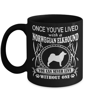 Norwegian Elkhound Dog, Coffee  Mug