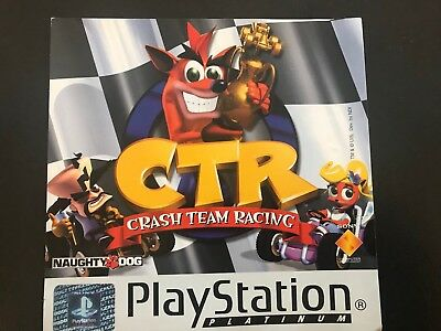 Crash Team Racing CTR SONY PLAYSTATION 1 PS1 CASE FLYER