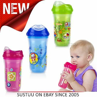 Loyal Nuby Sipeez Toddler Drinking Cup 18 Months Cups, Dishes & Utensils Pretty And Colorful Baby Feeding
