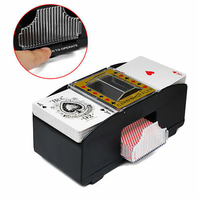 Electronic Automatic Card Shuffler 2 Deck Casino Playing Cards Sorter Poker Game