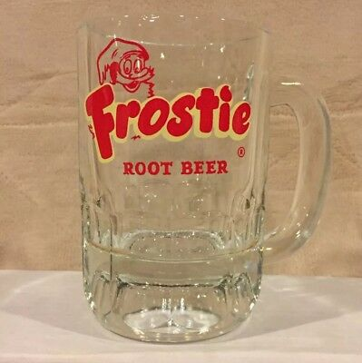 "VTG 5"" Frostie Root Beer Heavy Glass Mug Cup Stein Soda Pop Frosty Advertising"