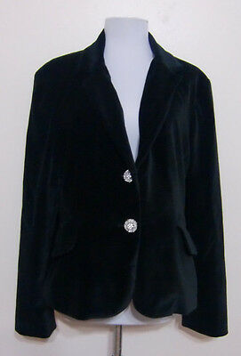 Mimi Maternity Womens Velvet Blazer Jacket Black Evening Special Occasion Size L