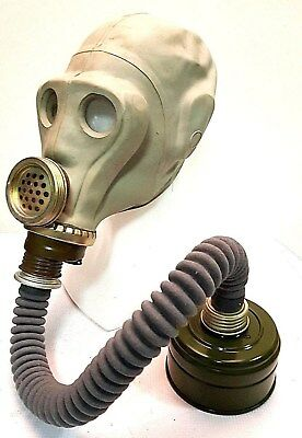 Authentic Soviet Russian GAS MASK ShMS grey SET DIRTY Genuine Vintage gift USSR
