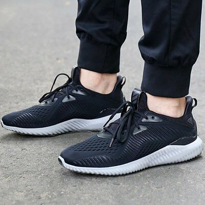 Adidas Alphabounce EM Men's Black/Grey Mesh Running Trainers Shoes 8_9_10_11