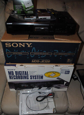 Sony Mds-Je320 Home Recording Mini Disc Deck And Sony Mz-E33 Bundle 5,new In Box