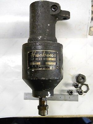 Usa Made Haskins Tapping Head  Number 1 Model A-11 With 4 Collets