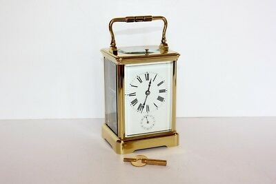 Antique French Repeater Carriage Clock with Alarm - Pristine Condition & Working