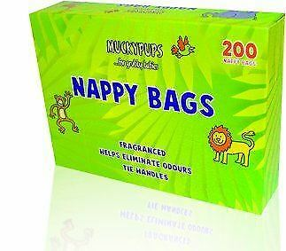 5x 200 Nappy Bags Disposable Hygienic Sack Bin Fragrance Handle Scented Perfumed