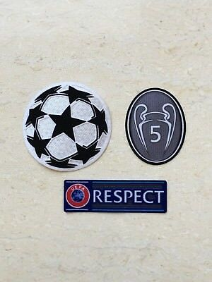 Set Of UEFA 17/18 Champions League Trophy 5 Patch Badge For Liverpool Barcelona