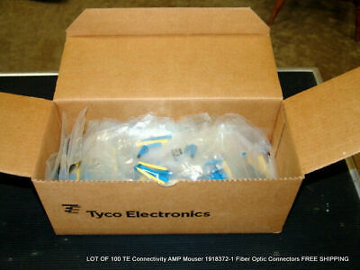 100 TE Connectivity AMP Mouser 1918372-1 Fiber Optic Connectors FREE SHIPPING